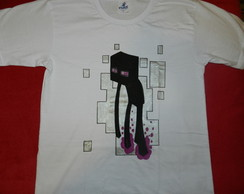 Camiseta pintada à mão do ENDERMAN