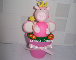 Porta recado no vaso Peppa Princess