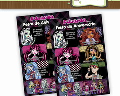 Convite Gibi Monster High