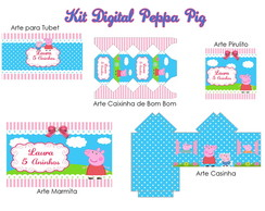 Kit de artes digitais Peppa Pig