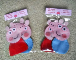 Peppa Pig e George Pig dedoches