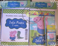 Kit de colorir George Pig