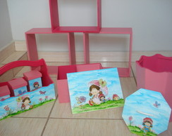 kit mdf infantil - menino safari