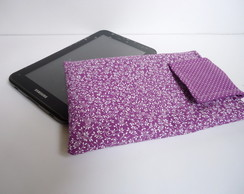 Case Tablet - Floral Roxo