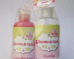 Kit Creme Hidratante+ Álcool Gel 60 ml