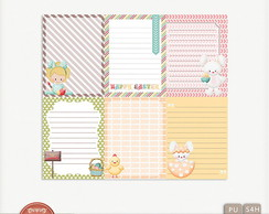 Kit Digital My Dear Bunny Journal Cards