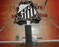 Abajur decorado do Santos