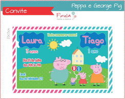 Convite Digital Peppa e George Pig