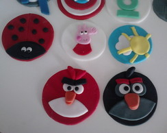 Toppers para cup cakes diversos