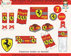 Kit guloseimas digital Ferrari corrida