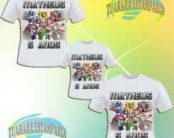 Kit 3 Camisetas - Transformers Rescue Bots
