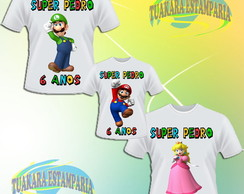 Kit Camiseta - Super Mario