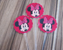 Tags/topper para Cupcakes.minnie