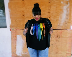 T-shirt Plus Size Cassette Retro