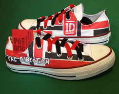 All Star Pintado A Mão One Direction