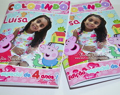 Kit revista colorir Peppa Pig & George