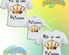 Kit 3 Camisetas - Princesa