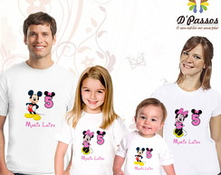 Kit 4 camisetas- Minnie Rosa