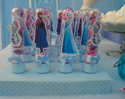 Tubetes decorados tema Frozen