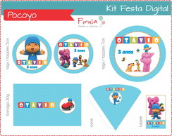 Kit Festa Digital Pocoyo