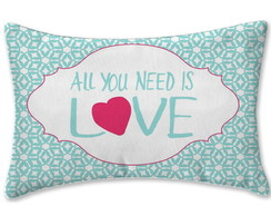Almofada All You Need is Love 30x20cm