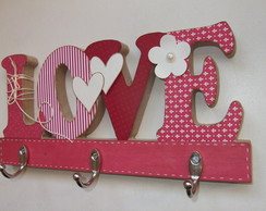 Cabideiro MDF scrap - LOVE