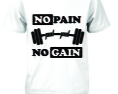 Camiseta no pain no again