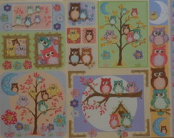 ***Papel Decoupage Corujas PD-638