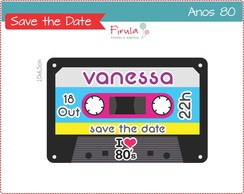 Save the Date Digital Anos 80