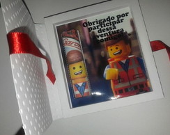 Convite Lego Movie com chocolate baton