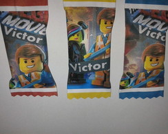50 Balas personalizadas Lego Movie