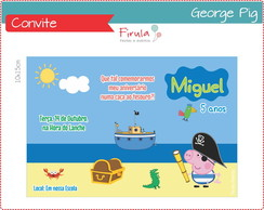 Convite Digital George Pig Pirata