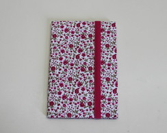 Porta Documento floral pink
