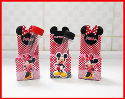Porta tubetes Minnie e Mickey!
