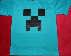 camiseta CREEPER-jogo do minecraft