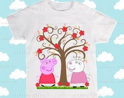 Camiseta Divertida peppa e suzy