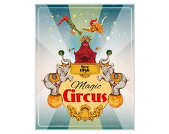 Placa Mdf Magic Circus 1 -795