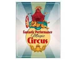 Placa Mdf Magic Circus 2 -796
