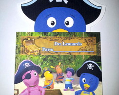 Convite Backyardigans - Pirata