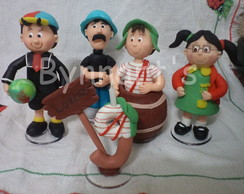 TOPO CHAVES NO BARRIL + 3 PERSONAGENS