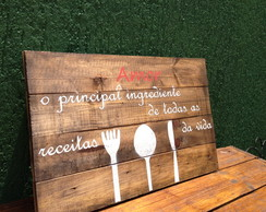 Quadro decorativo - placa de mesa