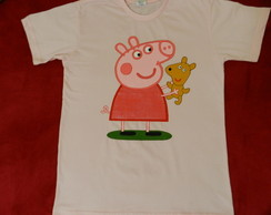 camiseta PEPPA PIG com urso ted (ADULTO)