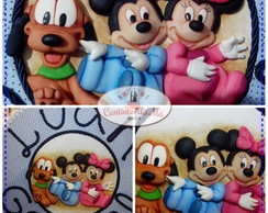Enfeite de porta da turma do Mickey