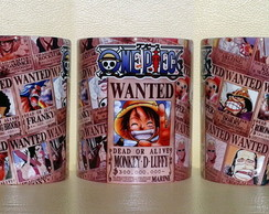 CANECA ONE PIECE - WANTED - MANGÁ