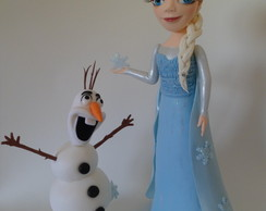 Elza e Olaf do filme Frozen