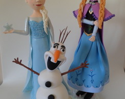 Princesa Elza, Anna e Olaf do Frozen