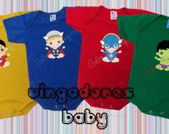 Body Estampado Vingadores Baby