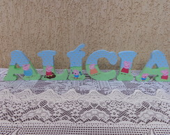 Letra Decorada - 12 Cm Altura - PEPPA