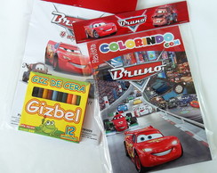 Kit Colorir Carros Disney