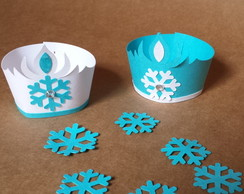Mini Wrapper para cupcake- Frozen